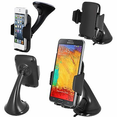 360° Windscreen Car Holder Cradle For Galaxy S7/S7 Edge/S6/S5/S4/S3/Ace 2/3/4:FM