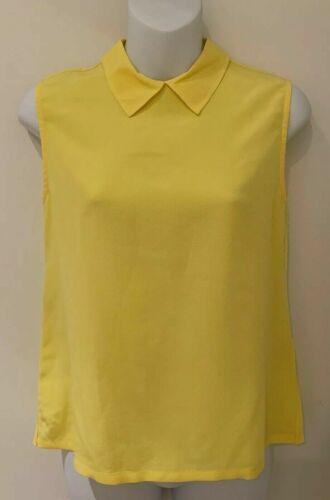 Equipment Yellow Elliot Buttoned Back Sleeveless S