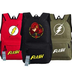 The-Flash-Backpack-Superhero-Messenger-Shoulder-School-Book-Bag-New-034-FG