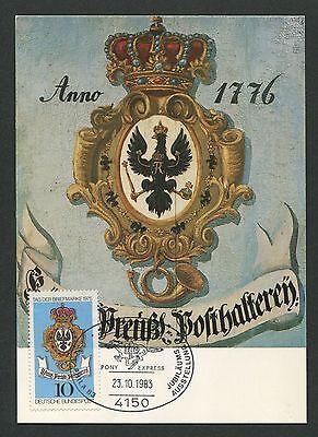 Briefmarken Neueste Kollektion Von Brd Mk 1983 Tag Der Marke 1975 Preußen Reichsadler Maximumkarte Mc Cm D2184 Motive