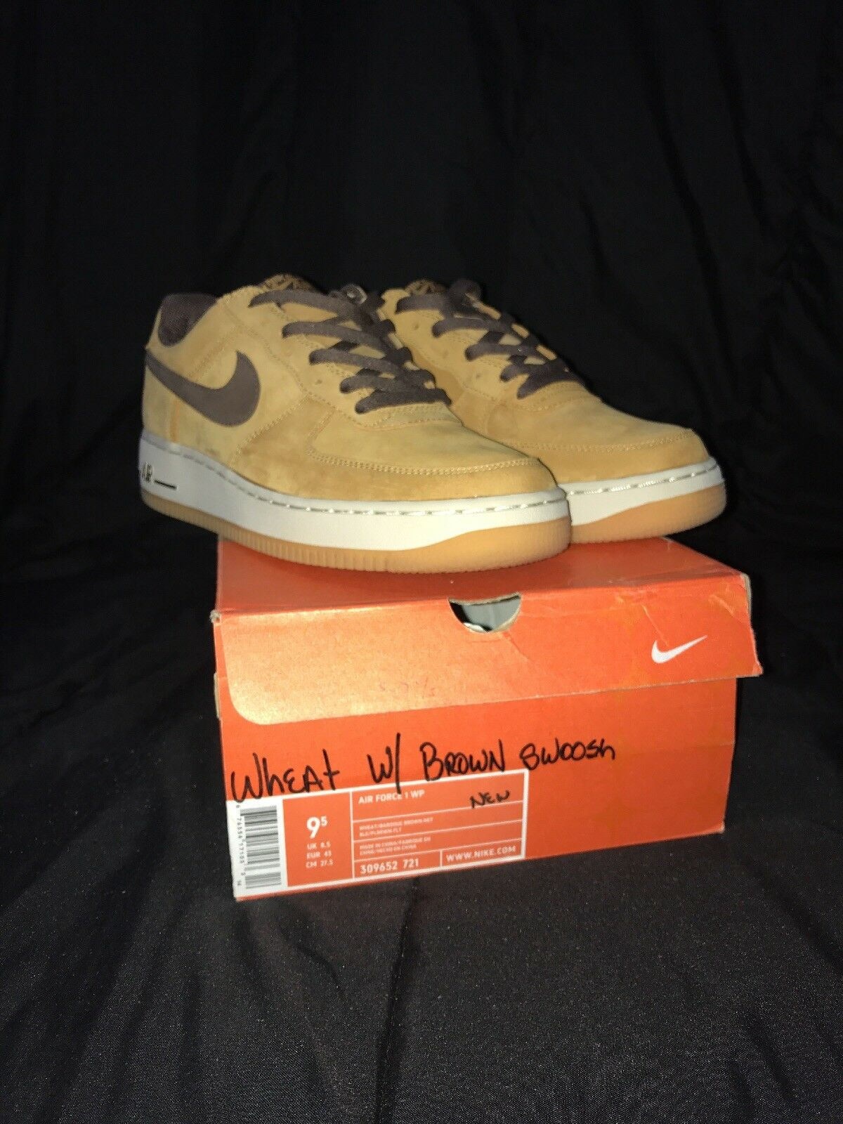 Nike air force one wp basso wp one 2004 grano brown 309652-721 dimensioni 9.5 03478d