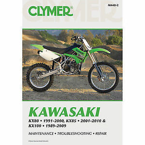 clymer kawasaki kx80 kx85 and kx100 repair manual ebay rh ebay co uk KX 100 Rider Size 125 Kawasaki KX100