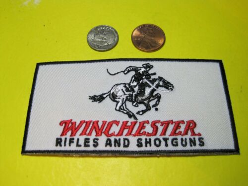WINCHESTER FIREARMS VEST PATCH 2 X 4 INCH SEW ON GUN PATCH*