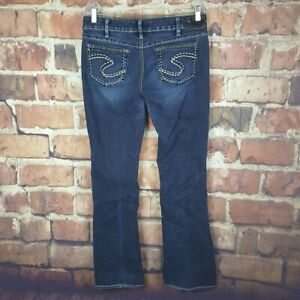 Silver-Jeans-Womens-Aiko-Boot-Cut-Size-32-33-Distressed-33-Inseam