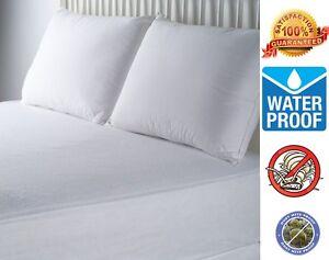 Hypoallergenic-Waterproof-Ultra-Soft-BedBug-Zipper-Mattress-Cover-Protector