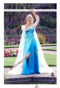 Image is loading PLUS-SIZE-Disney-Frozen-Queen-Elsa-Costume-adult- & PLUS SIZE Disney Frozen Queen Elsa Costume adult SIZE 1820222426 ...