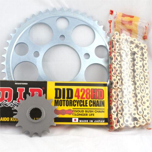 Yamaha TDR125 4FU 1993 DID Gold Heavy Duty Chain and Sprocket Kit