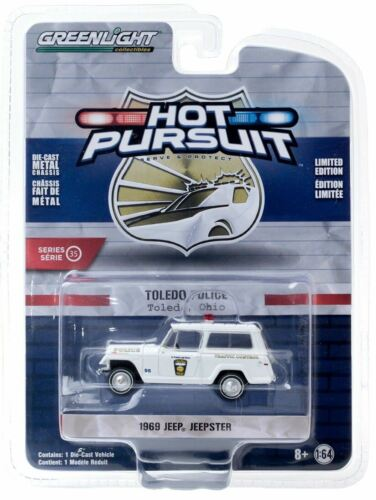 OH Police 1969 Kaiser Jeep Jeepster 42920A Greenlight 1//64 Toledo
