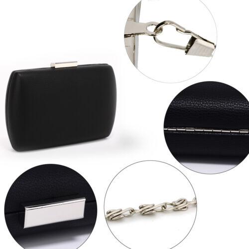 Womens Hard Case Evening Clutch Bag Designer Ladies Prom Party Bridal Handbag UK