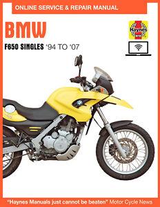 2006 Bmw F650gs Haynes Online Repair Manual Select Access Ebay