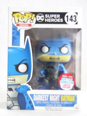 Darkest Night Batman NYCC 2016 Exclusive POP Heroes #143 Vinyl Figur Funko
