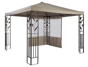 Ersatzdach-Dach-fuer-Pavillon-3x3-m-hellgrau-PU-Beschichtung-UVP-69-99-7220045
