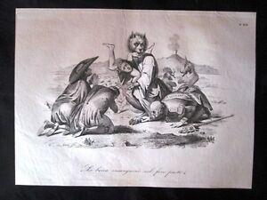 Incisione-d-039-allegoria-e-satira-Messina-Ferdinando-di-Borbone-Don-Pirlone-1851
