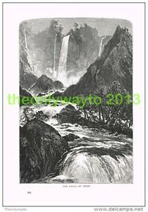 THE-FALLS-OF-TERNI-ITALY-Book-Illustration-Print-c1875