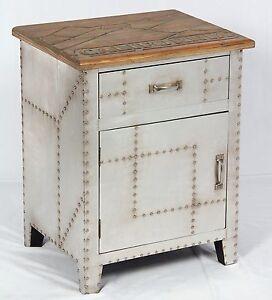 vintage nachttisch industrie design nachtschrank retro nachtkonsole m bel 506 721246113414 ebay. Black Bedroom Furniture Sets. Home Design Ideas