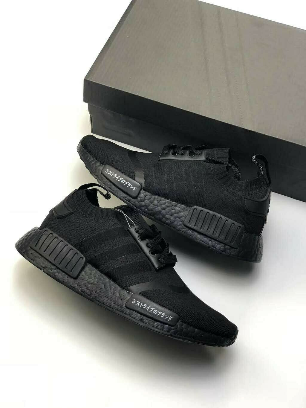4548c229b1320 adidas NMD R1 Japan Triple Black Primeknit Bz0220 for sale online
