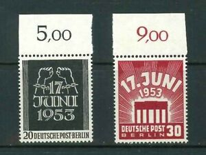 Luxus-Berlin-Mi-Nr-110-111-Oberrand-postfrisch-Schlegel-BPP-Mi-50