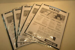 5-Packs-of-5-Vario-Stamp-Stock-Pages-6S-Leuchtturm-No-310-707-Lighthouse