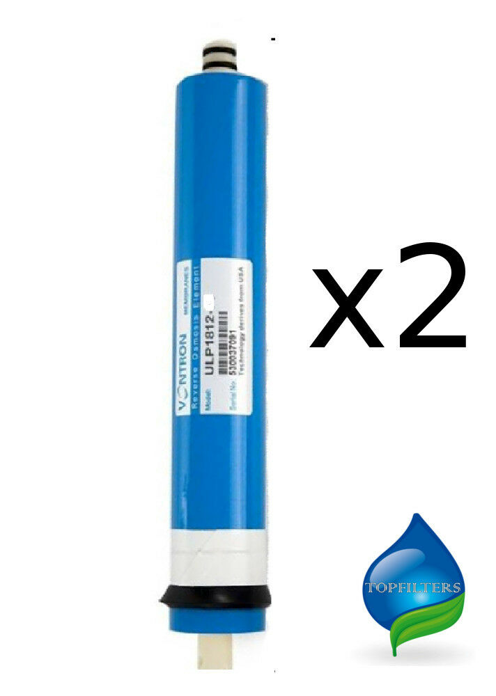 2x Nuovo di Zecca osmosi inversa filtro acqua RO MEMBRANA VONTRON 75GPD
