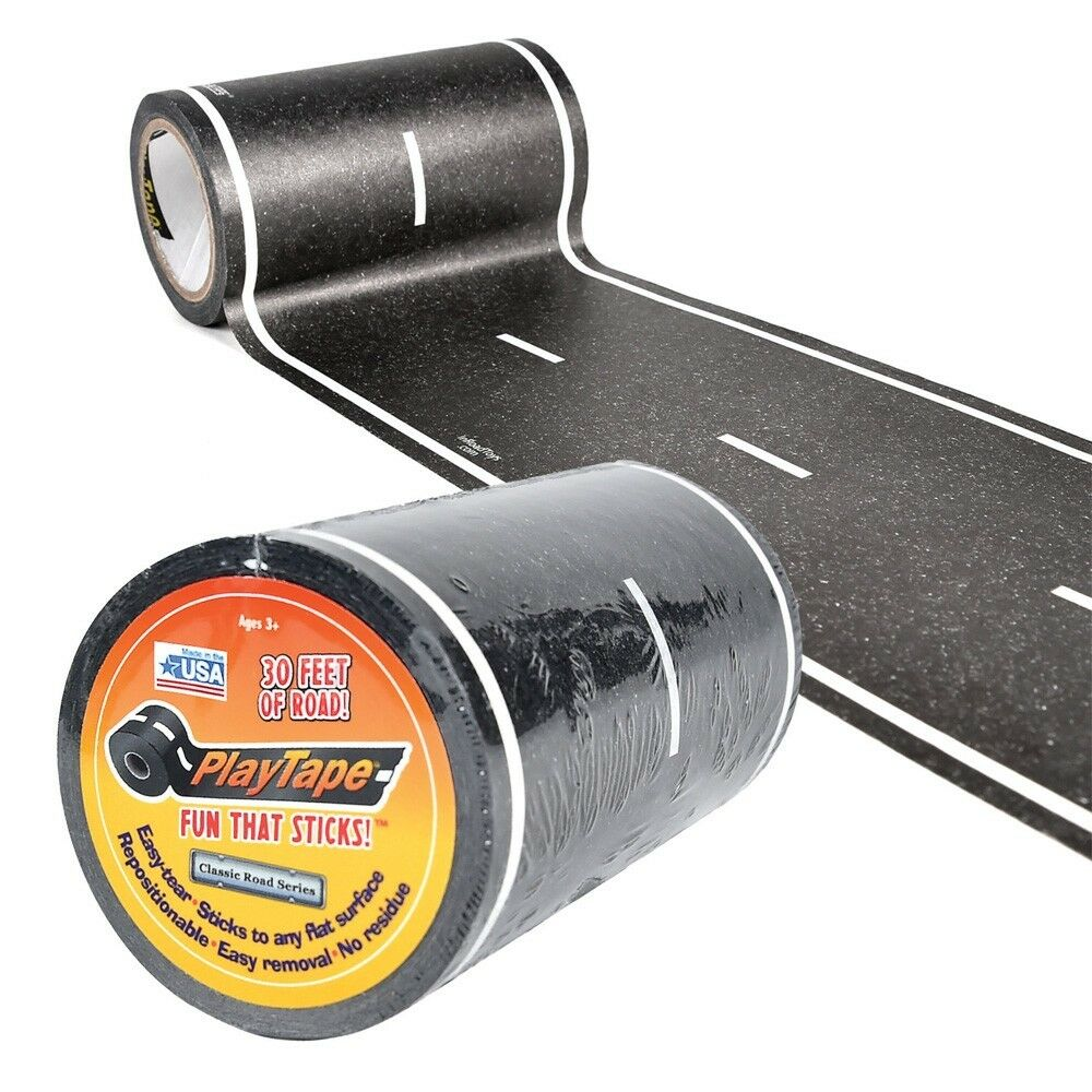 4  WIDE STRAIGHT ROAD - PLAYTAPE - CLASSIC ROAD SERIES - IMROAD TOYS - 30 FEET
