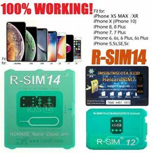 RSIM14-12-R-SIM-Nano-Unlock-Card-for-iPhone-XS-MAX-XR-XS-8-7-6-4G-iOS-12-11-Lot