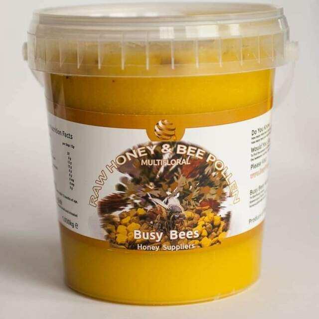 100% PURE RAW ORGANIC HONEY WITH BEE POLLEN 1 030kg