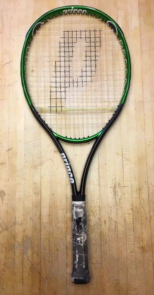 Raro Príncipe triple amenaza Air-o-Bestia 110 os tenis raqueta 4 1 2