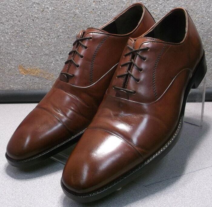 153910 PF50 Chaussures Hommes Taille 10 M marron en cuir à lacets Johnston & Murphy