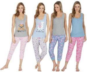 Forever Dreaming Ladies Cotton Flamingo//Melon Pyjama Set