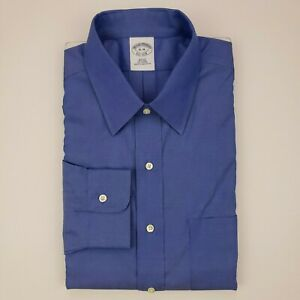 Brooks-Brothers-Slim-Fit-Dress-Shirt-Blue-16-35-Non-Iron-All-Cotton-Nwot-Mens-Sz