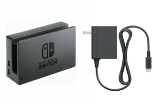 Brand New Official Nintendo Switch Dock AC Adapter & HDMI Set - Bulk Packaged