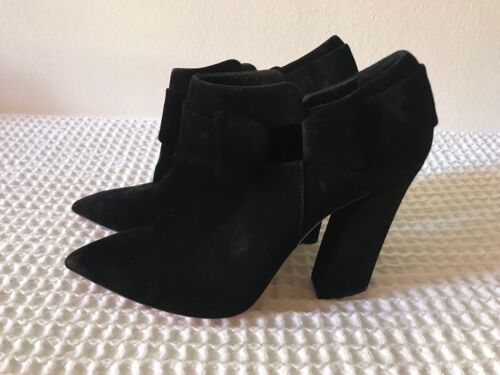 Suede Black Usa 5 Ankle Sz 8 Boots Stunning Casadei Eu 37 On Unique Rawxq5n6Sd