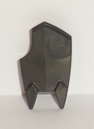 Shield Broad with Spiked Bottom and Cutout Corner Dark Gray LEGO Minifig