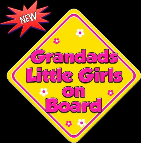 Abuelos Little Girls Bebé a bordo coche ventana muestra non Personalizado Nuevo Y Hp