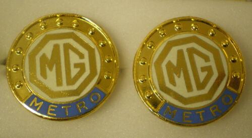 MG MotorCAR Motoring Enamel Badge CUFFLINKS MG MIDGET MG METRO