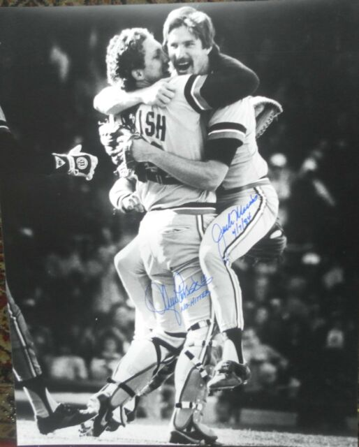 JACK MORRIS / LANCE PARRISH AUTOGRAPHED signed 16x20 Photo coa NO HITTER