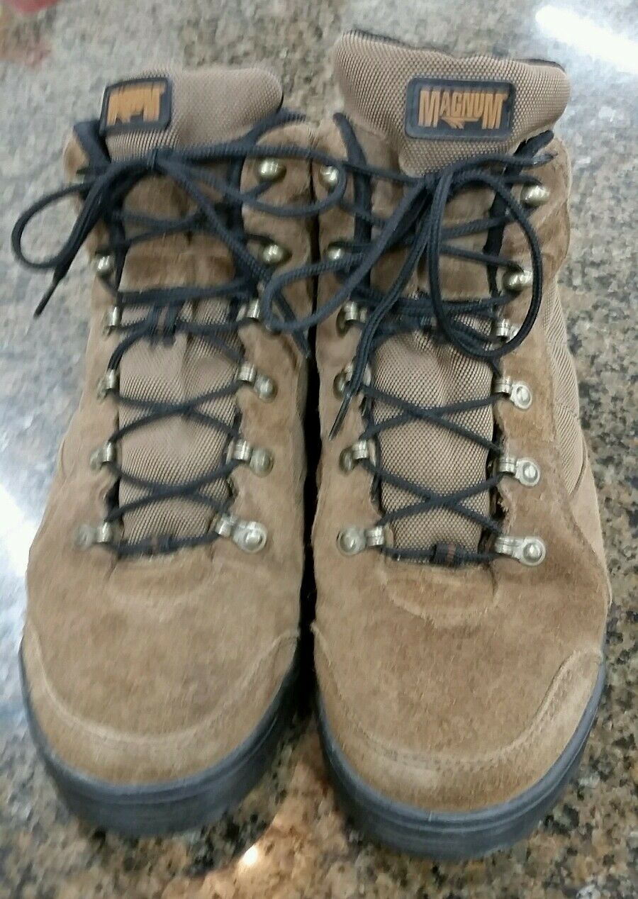 Magnum Steel Toe Suede Work Boots, Hiking, Sneakers Size 9, VGC