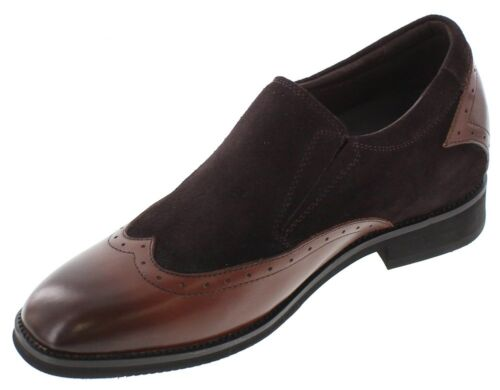 TOTO X33513-3 Inches Elevator Height Increase Dark Brown Wing Tip Suede Shoe