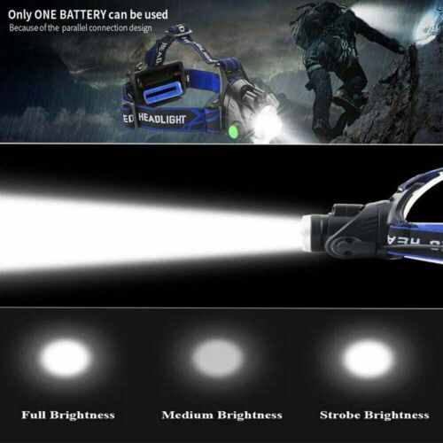 350000LM Rechargeable Headlight LED Headlamp Tactical Head Torch Lamp Lights