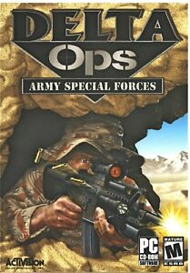 Delta Ops Army Special Forces Pc New Boxed XP Multiplayer 10 Weapons 10 Missions