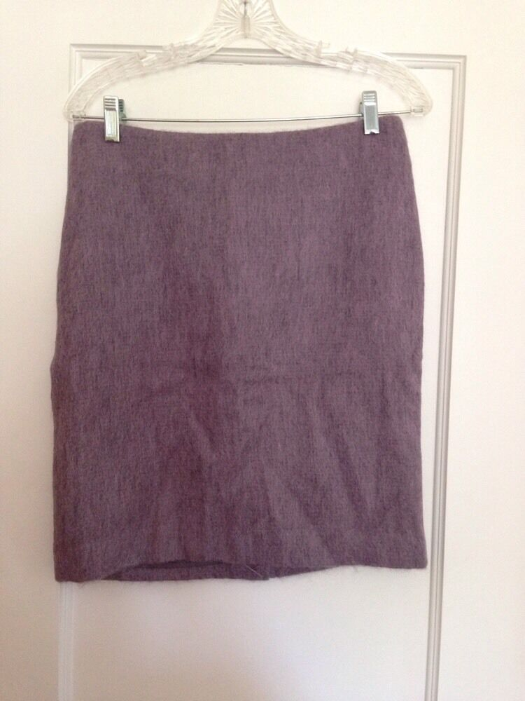 TALBOTS dark lavender mohair pencil skirt -4- NWT