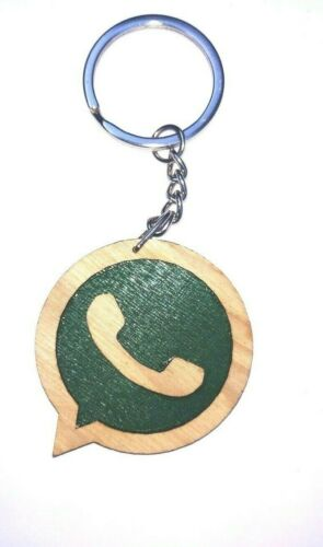 keyring oak Whatsapp wood key tags keychain engraved hotel key ring fobs