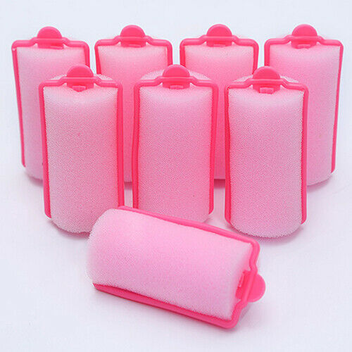 HR- 12 Pcs/Bag Sponge Foam Cushion Hair Styling Rollers Curlers Twist Tool US