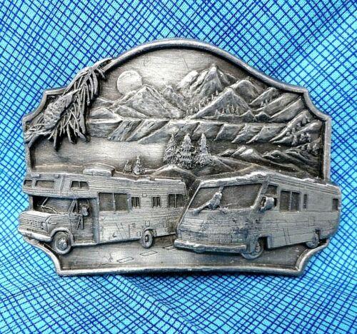 Winnebago International Travelers Motorhome Rv Camping Travel Collectible Memorabilia Advertising Vintage Belt Buckle
