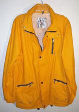 yellow waterproof sailing jacket by North Bay size L