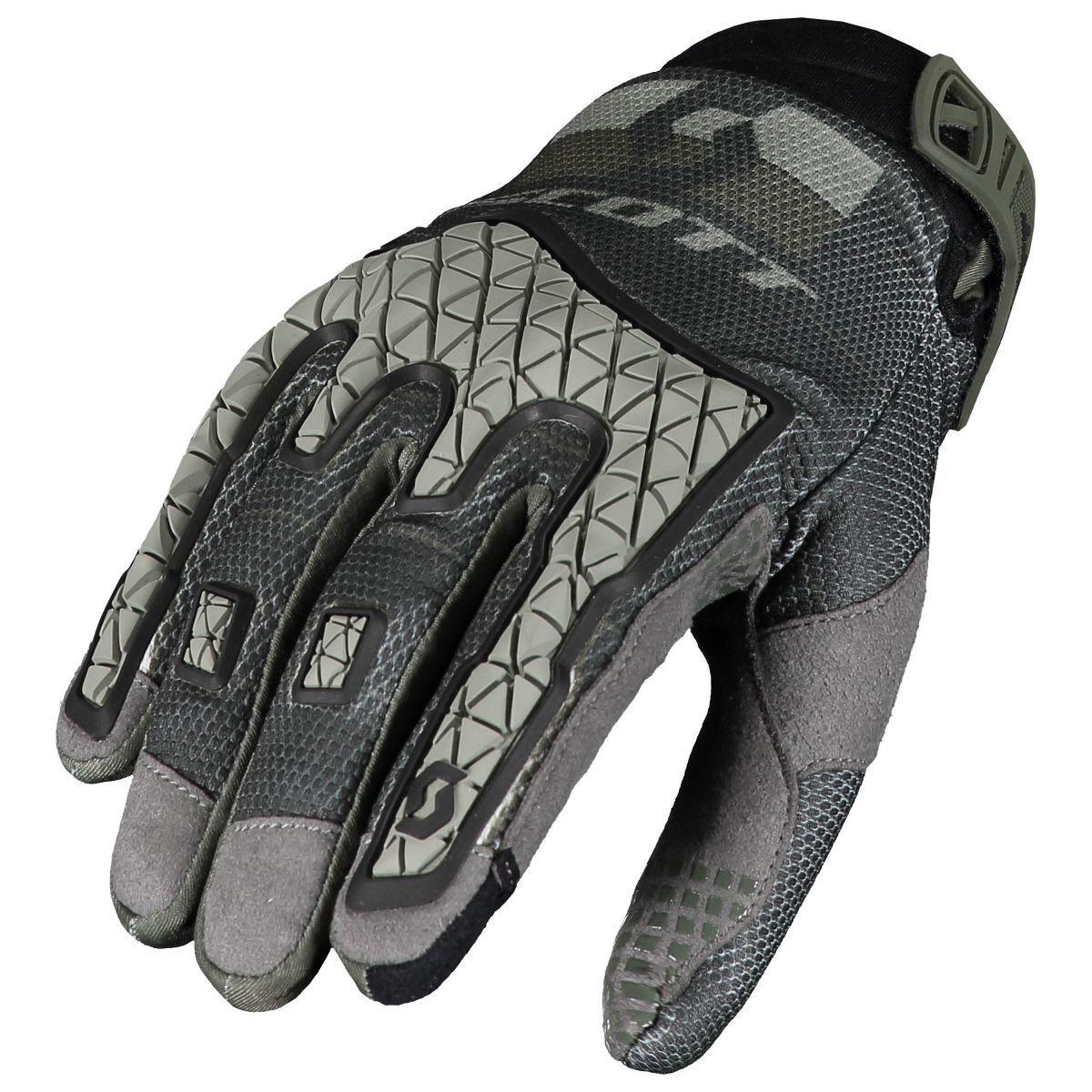 Scott Enduro MX DH Motorrad   Fahrrad Handschuhe grau 2019