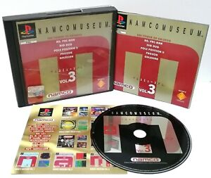 NAMCO-Museum-Vol-3-Sony-Playstation-ps1-PAL-Disk-ausgezeichnete-Fall-beschaedigt
