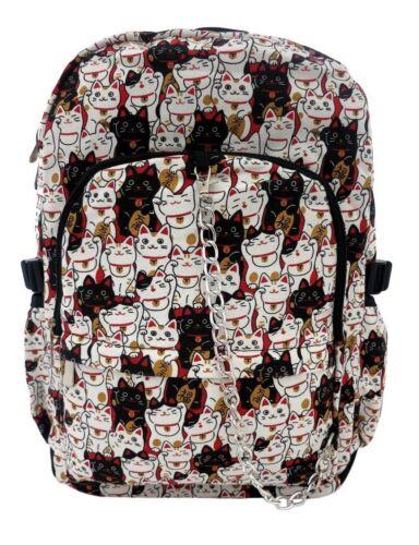CAT Backpack Rucksack Cool Boy Girl Kitty School College Gym Emo Travel Bag
