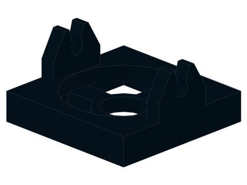 Nouvelles Magnétique Support 2x2 en noir 1 St 66 2609