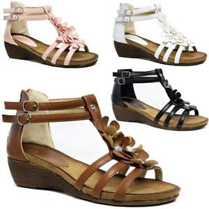 WOMENS-LADIES-WEDGE-SUMMER-BEACH-FASHION-STRAPPY-COMFORT-SANDLES-SHOES-SIZES